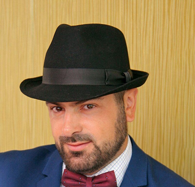 W210-2 Мужская фетровая шляпа Хелен Лайн
