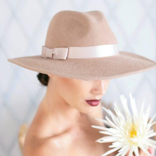 326-1 Фетровая женская шляпа Хелен Лайн