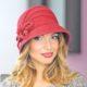 215-1 Женская фетровая шляпа Хелен Лайн