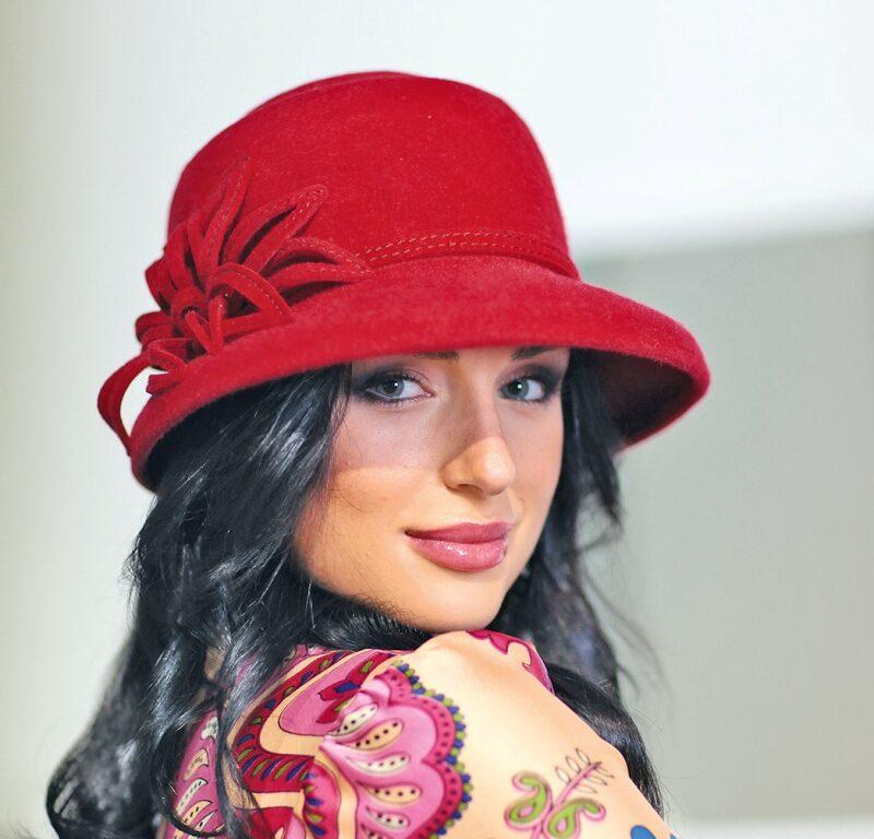 232-1 Женская фетровая шляпа Хелен Лайн