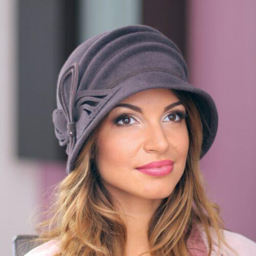 240-1Женская фетровая шляпа Хелен Лайн