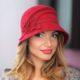 241-3 Женская фетровая шляпа Хелен Лайн