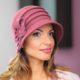 244-1 Женская фетровая шляпа Хелен Лайн