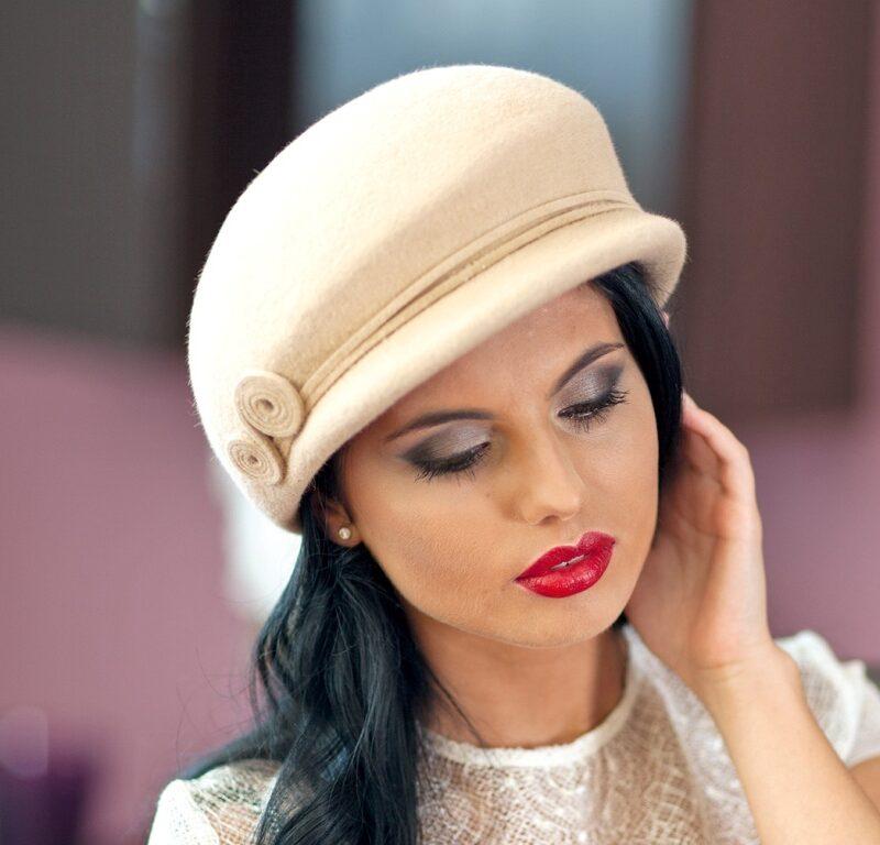 250-1 Женская фетровая шляпа Хелен Лайн