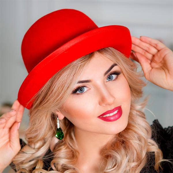 258 Женская фетровая шляпа Оливия