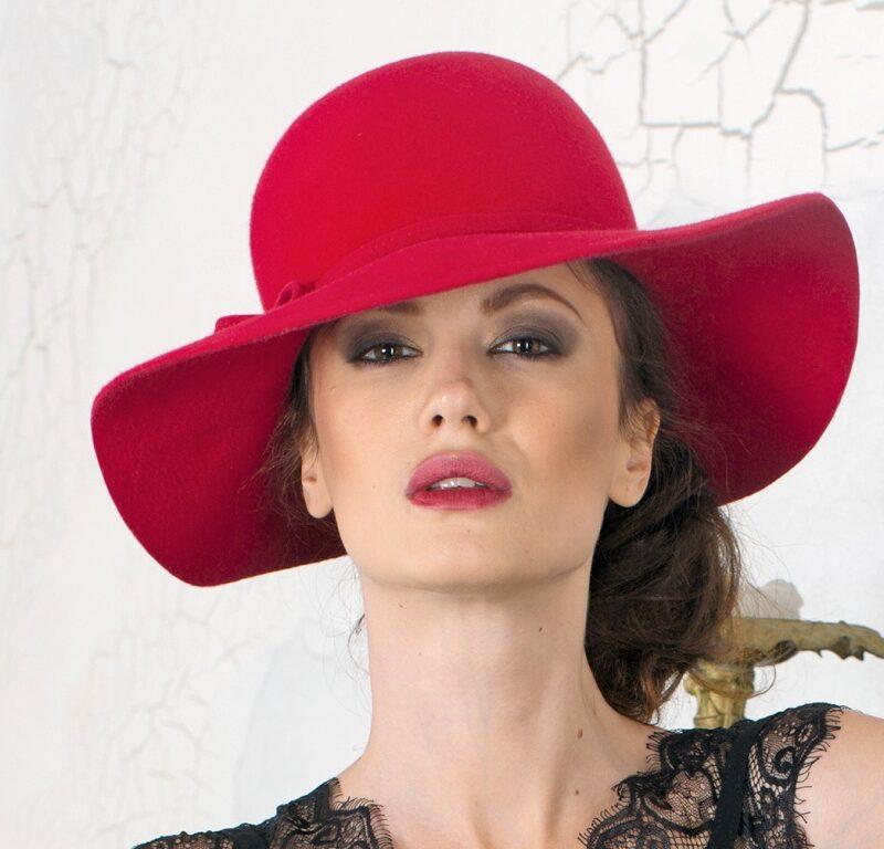 W274-1 Женская фетровая шляпа Хелен Лайн