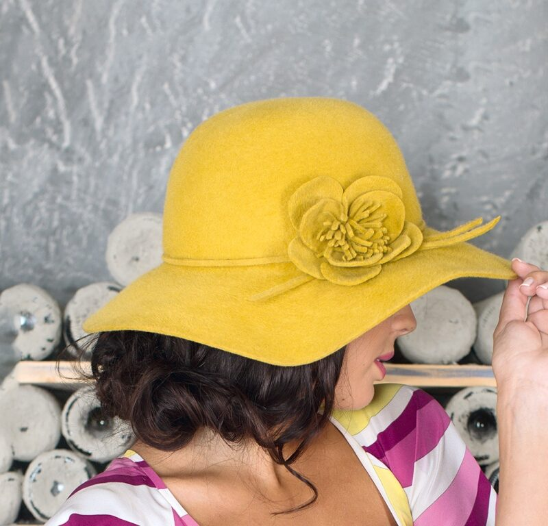 277-1 Женская фетровая шляпа Хелен Лайн