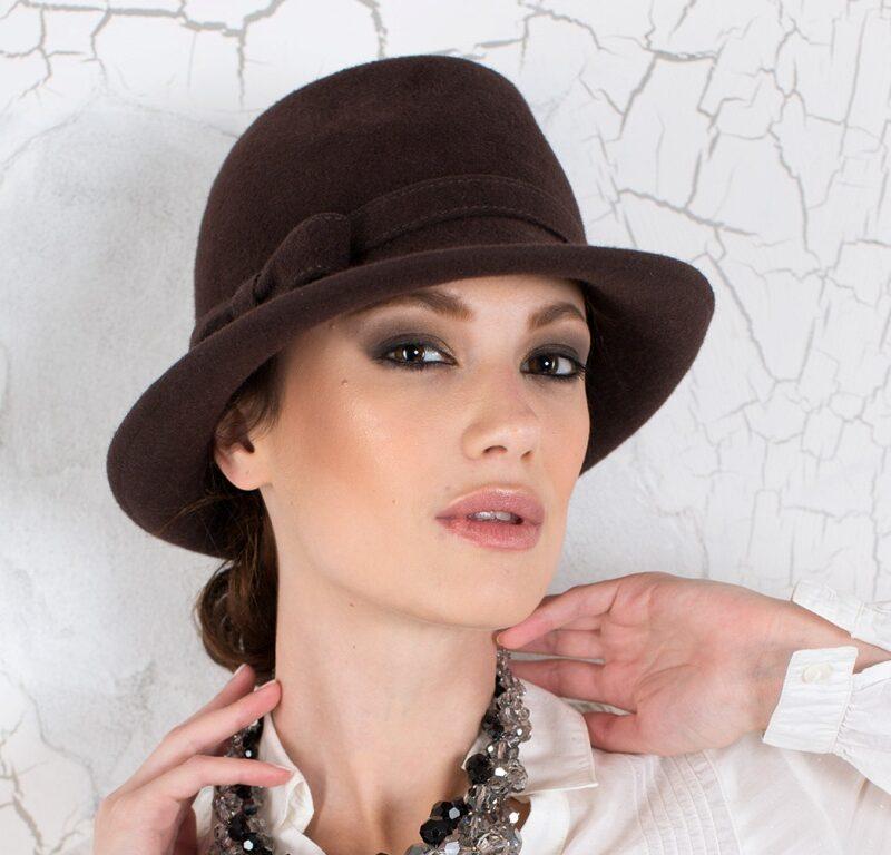 284-1 Фетровая женская шляпа Хелен Лайн