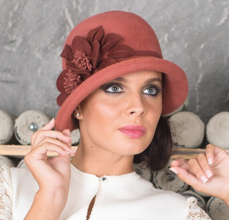 286-1 Женская фетровая шляпа Хелен Лайн