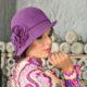 288-1 Женская фетровая шляпа Хелен Лайн