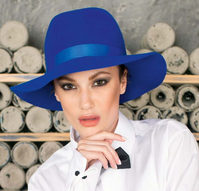 291-1 Фетровая женская шляпа Хелен Лайн