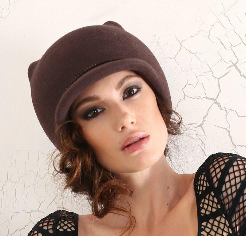 293-1 Женская фетровая шляпа Хелен Лайн