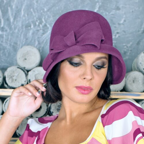297-1 Женская фетровая шляпа Хелен Лайн