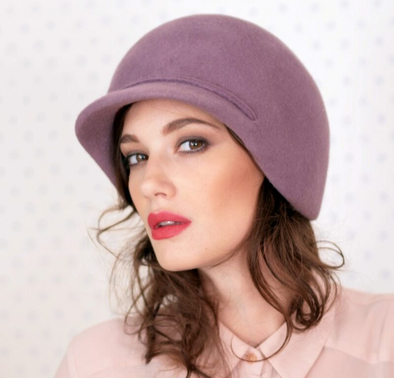 298-1 Женская фетровая шляпа Хелен Лайн