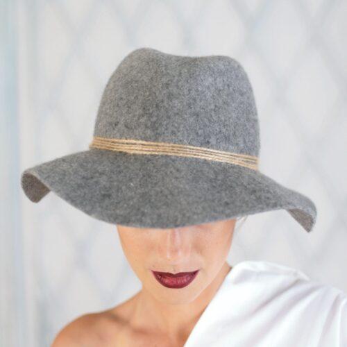 W300-2 Фетровая женская шляпа Хелен Лайн
