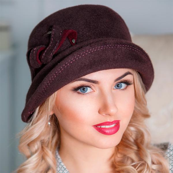 300 Женская фетровая шляпа Оливия
