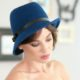 301-1 Женская фетровая шляпа Хелен Лайн