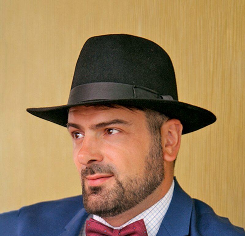 W304-1 Мужская фетровая шляпа Хелен Лайн