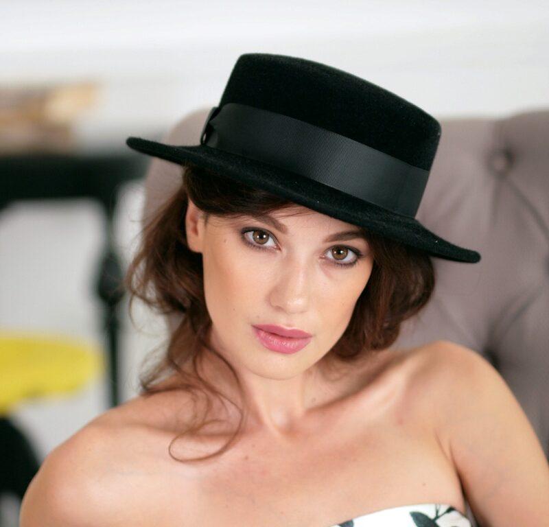 305-1 Фетровая женская шляпа Хелен Лайн