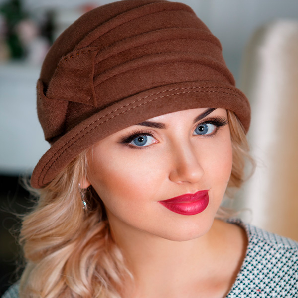 306 Женская фетровая шляпа Оливия