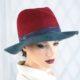 307-1 Фетровая женская шляпа Хелен Лайн
