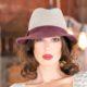 308-1 Фетровая женская шляпа Хелен Лайн