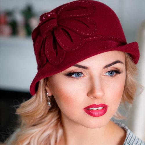 308-1 Женская фетровая шляпа Оливия