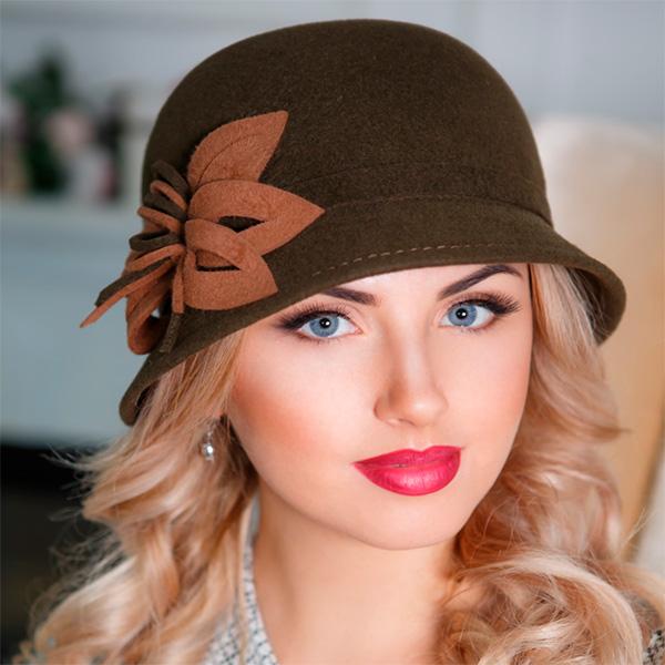 308 Женская фетровая шляпа Оливия