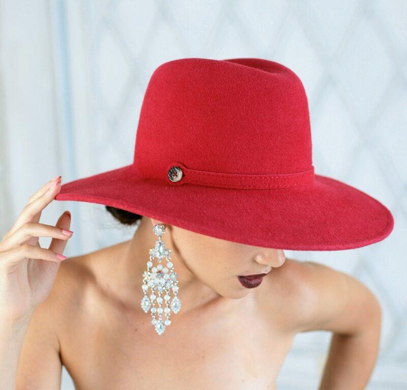 312-1 Фетровая женская шляпа Хелен Лайн