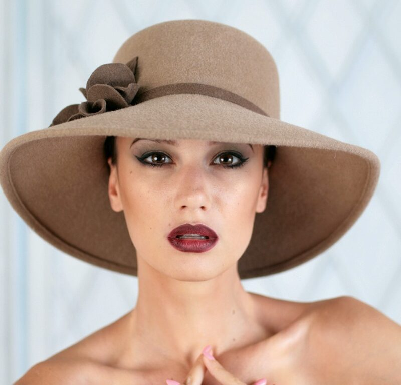 313-1 Фетровая женская шляпа Хелен Лайн