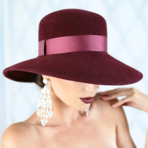 313-2 Фетровая женская шляпа Хелен Лайн