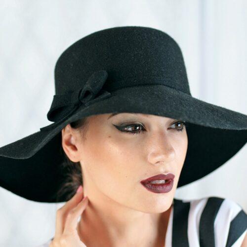 313-3 Фетровая женская шляпа Хелен Лайн
