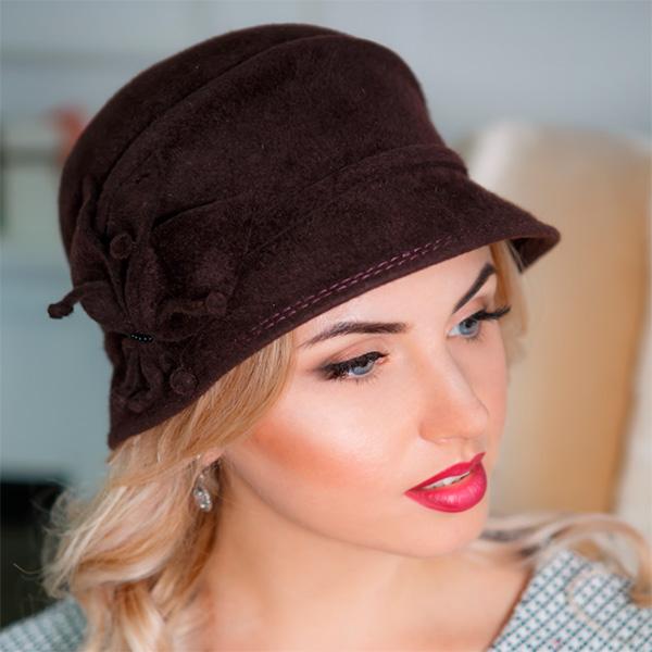 315  Женская фетровая шляпа Оливия