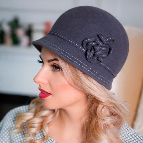 316  Женская фетровая шляпа Оливия