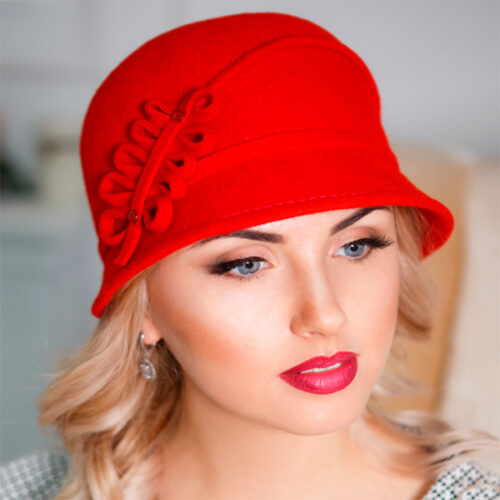 317  Женская фетровая шляпа Оливия