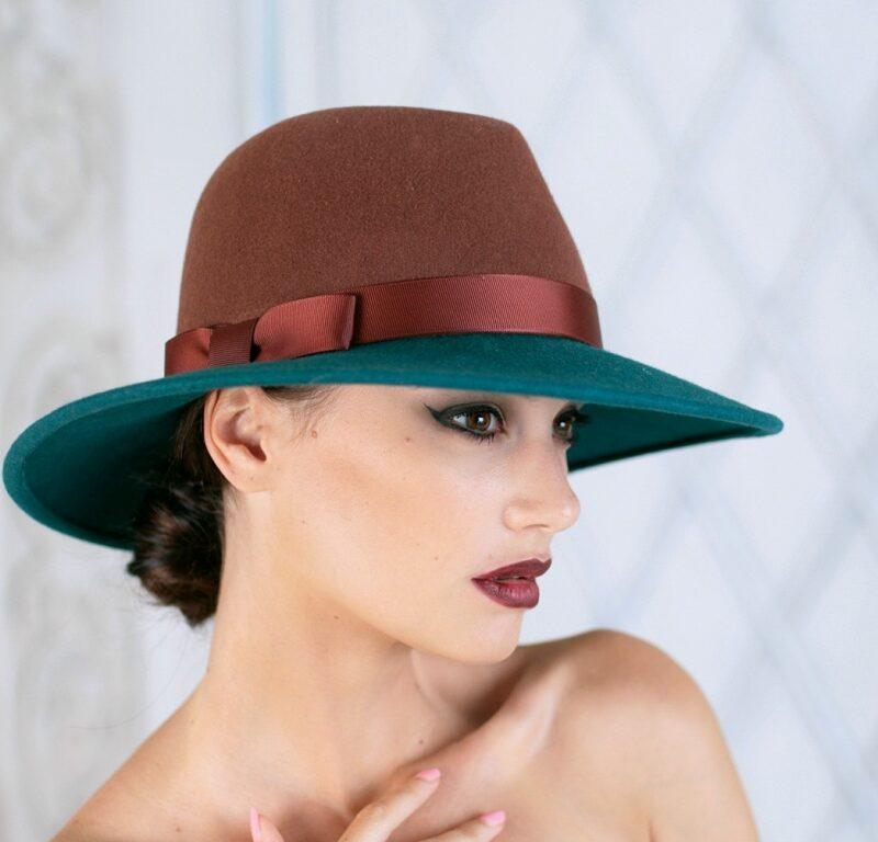 318-1 Фетровая женская шляпа Хелен Лайн