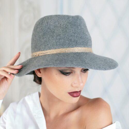 W318-2 Фетровая женская шляпа Хелен Лайн