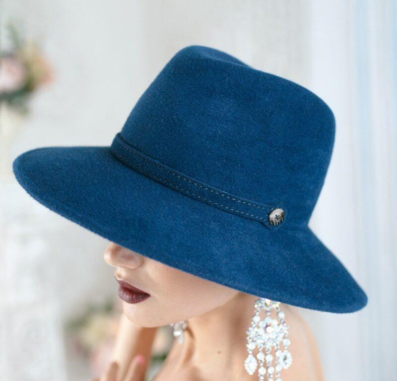 318-3 Фетровая женская шляпа Хелен Лайн
