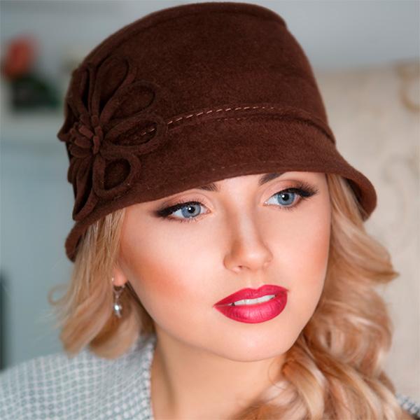 318  Женская фетровая шляпа Оливия