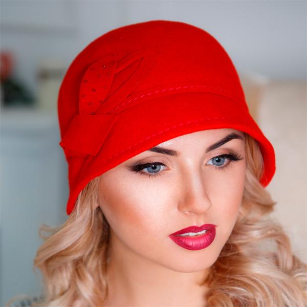 319  Женская фетровая шляпа Оливия