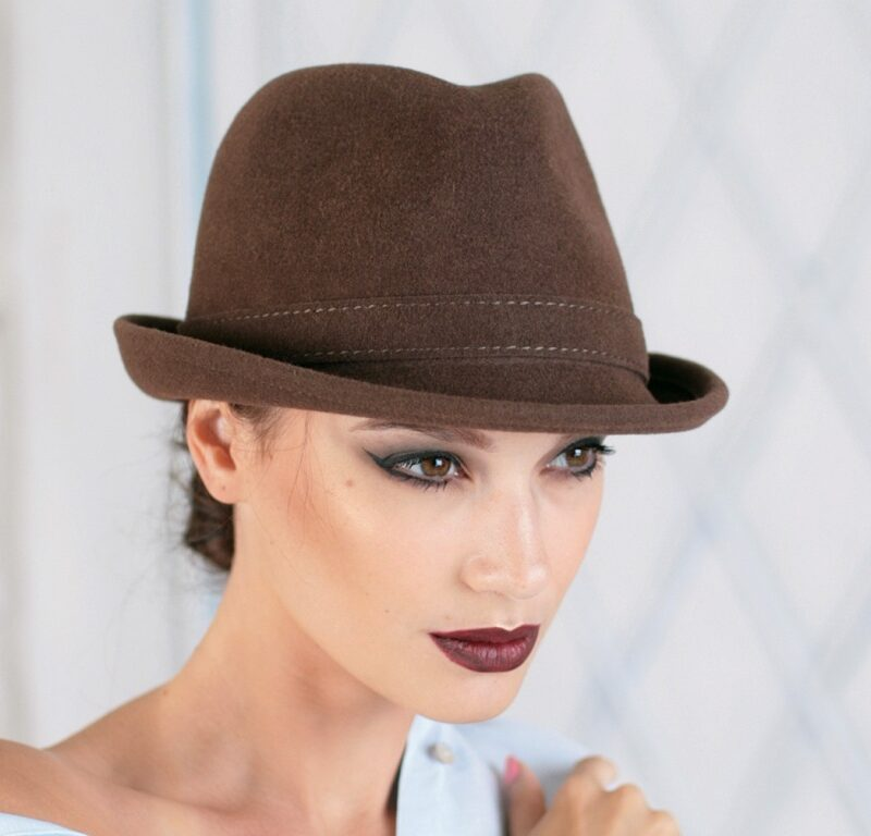 320-1 Фетровая женская шляпа Хелен Лайн