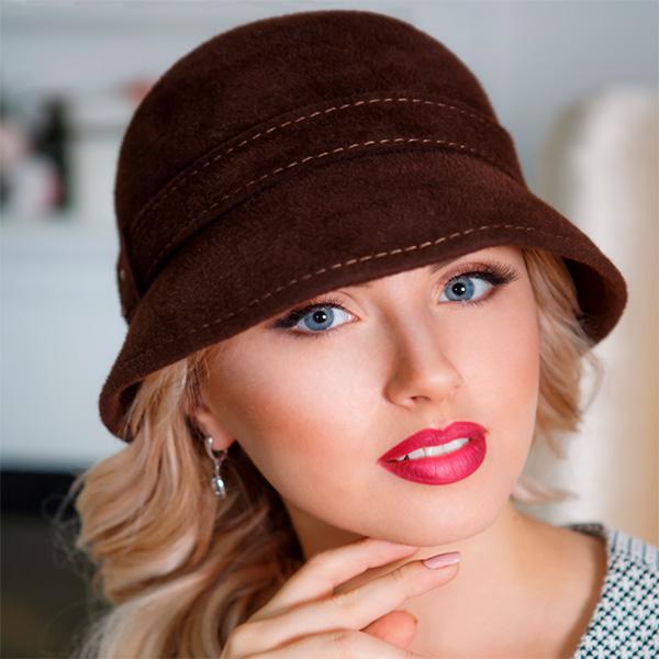 320  Женская фетровая шляпа Оливия