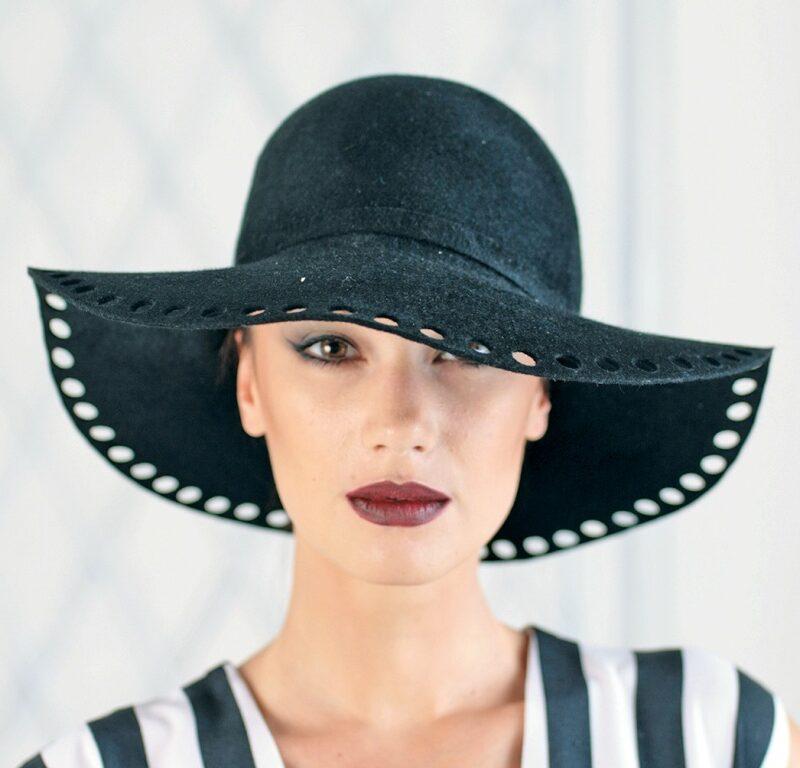 321-1 Фетровая женская шляпа Хелен Лайн