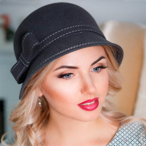 321  Женская фетровая шляпа Оливия