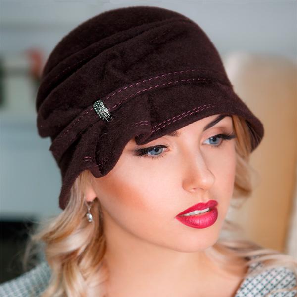 322  Женская фетровая шляпа Оливия