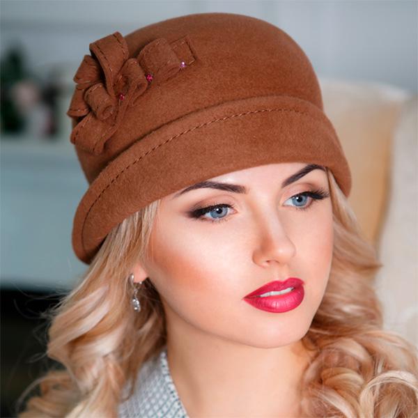 323  Женская фетровая шляпа Оливия