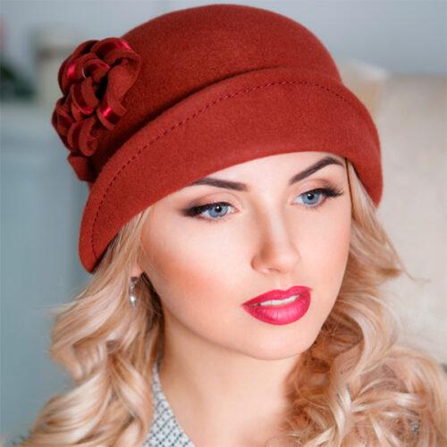 324  Женская фетровая шляпа Оливия