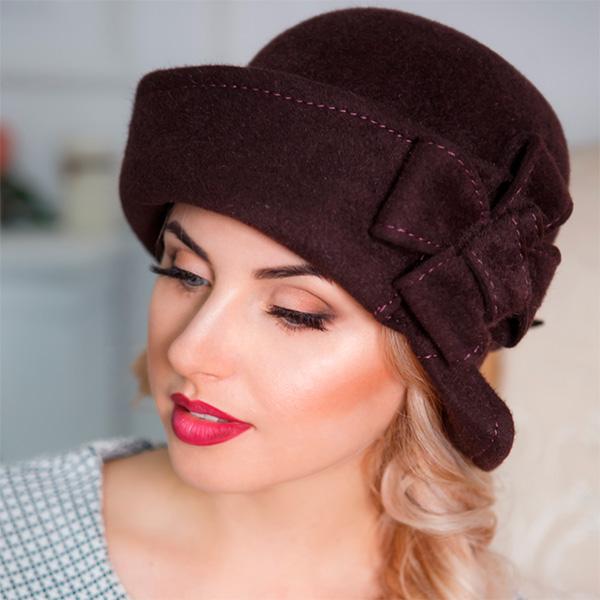 326 Женская фетровая шляпа Оливия