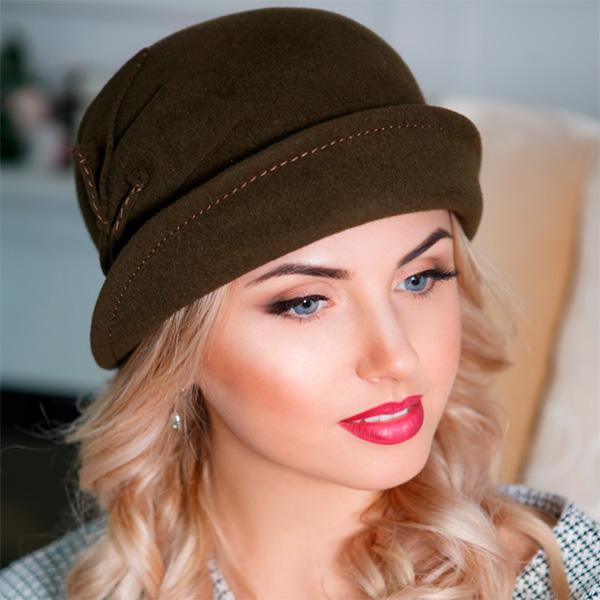 329 Женская фетровая шляпа Оливия