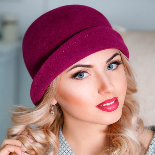 331 Женская фетровая шляпа Оливия